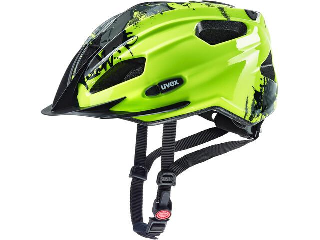 UVEX Quatro Helmet Kinder neon yellow/black